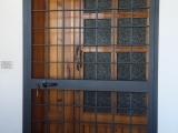 P02 Porta inferriata ad un anta stile classico